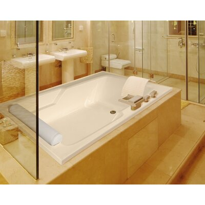 Designer Duo 72 x 48 Whirlpool Bathtub Finish: Biscuit