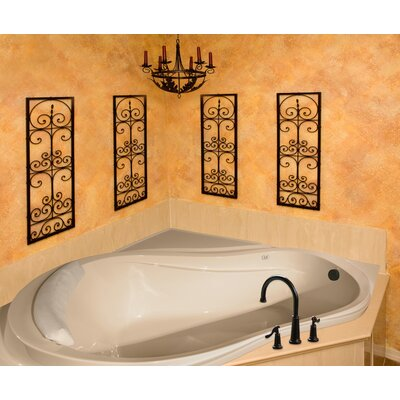 Designer Eclipse 64 x 64 Whirlpool Bathtub Finish: Almond