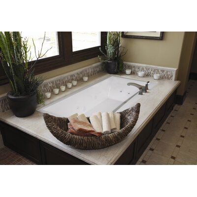 Designer Eileen 74 x 38 Whirlpool Bathtub Finish: Bone