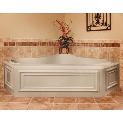 Designer Erica 60 x 60 Soaking Bathtub Finish: Almond