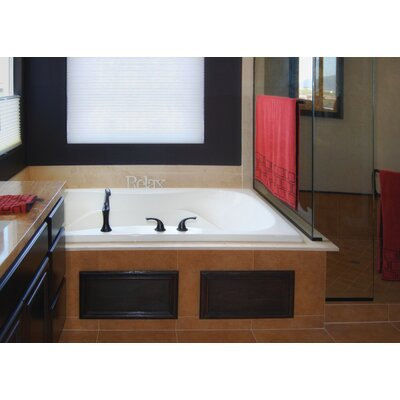 Designer Evansport 72 x 42 Whirlpool Bathtub Finish: White