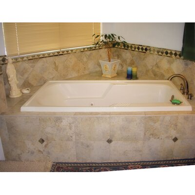 Designer Isabella 72 x 36 Whirlpool Bathtub Finish: Bone