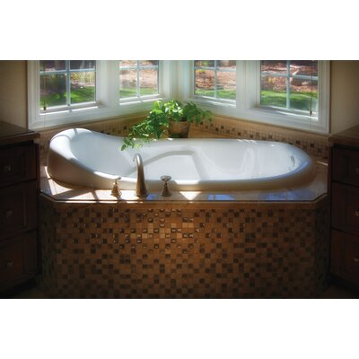 Designer Kimberly 72 x 40 Whirlpool Bathtub Finish: White