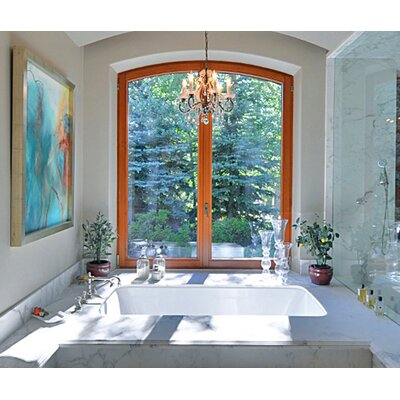 Designer Kira 72 x 32 Soaking Bathtub Finish: Almond