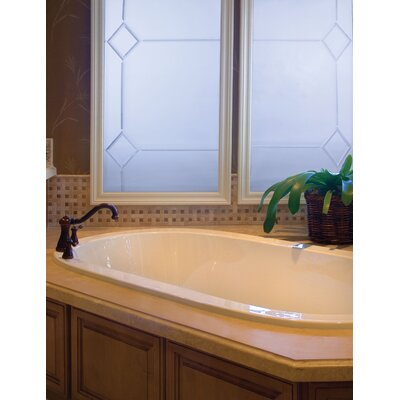 Designer Lorraine 74 x 44 Soaking Bathtub Finish: Bone