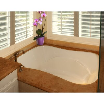 Designer Monterey 72 x 42 Soaking Bathtub Finish: Almond