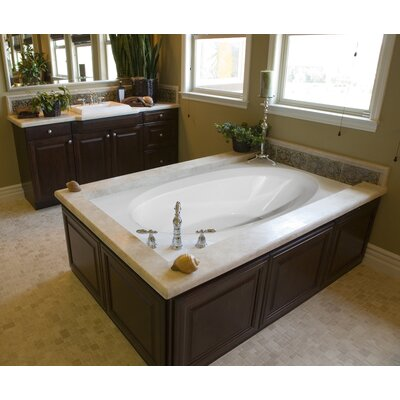 Designer Ovation 72 x 42 Salon Spa Soaking Bathtub Finish: White