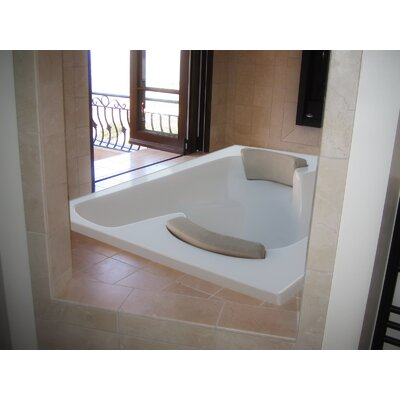Designer Penthouse 72 x 60 Salon Spa Soaking Bathtub with Combo System Finish: Bone