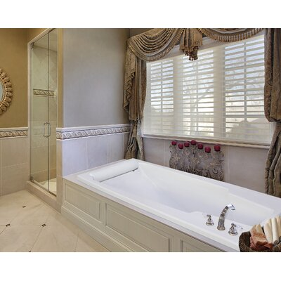Designer Premier 74 x 42 Whirlpool Bathtub Finish: Bone