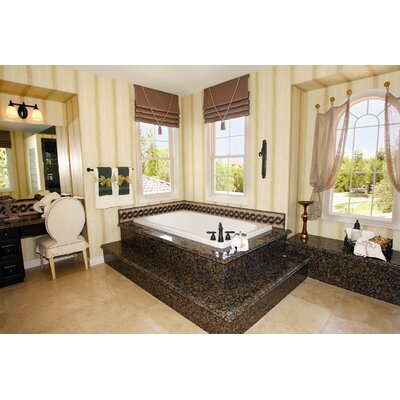 Designer Rachael 72 x 36 Soaking  Bathtub Finish: White