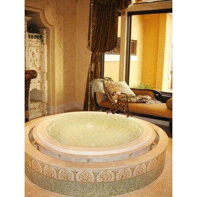 Designer Redondo 69 x 69 Soaking Bathtub Finish: Bone