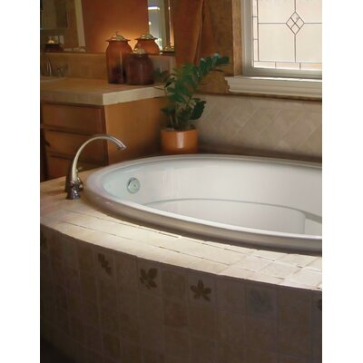 Designer Riley 60 x 42 Whirlpool Bathtub Finish: White