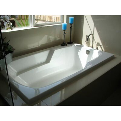 Designer Solo 72 x 36 Soaking Bathtub Finish: Almond