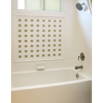 Designer Sydney 72 x 32 Soaking Bathtub Finish: Almond, Drain Location: Left