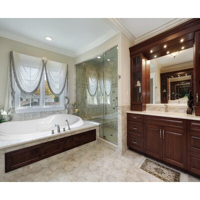 Designer Vanessa 72 x 42 Whirlpool Bathtub Finish: White