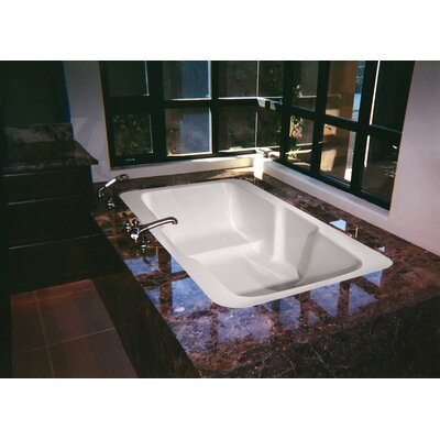 Designer Victoria 73 x 48 Air Bathtub Finish: White