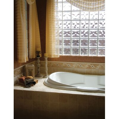 Designer Yvette 72 x 42 Soaking Bathtub Finish: Almond