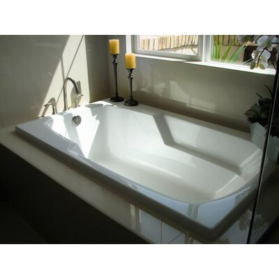 Builder 60 x 32 Whirlpool Bathtub Finish: White