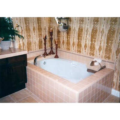 Builder 60 x 42 Air/Whirlpool Bathtub Finish: Almond