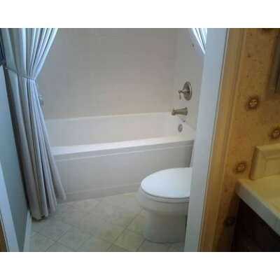Builder Regan 66 x 32 Soaking Bathtub Finish: Bone, Drain Location: Right