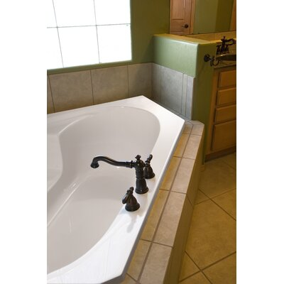 Designer Rincon 59 x 59 Soaking Bathtub Finish: Bone