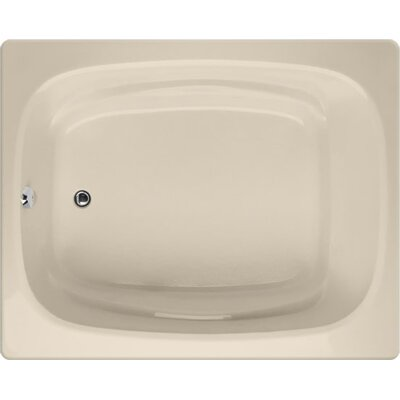 Designer Alexis 60 x 48 Soaking Bathtub Finish: Almond