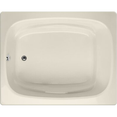 Designer Alexis 60 x 48 Soaking Bathtub Finish: Biscuit