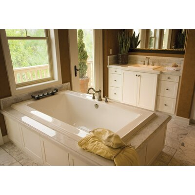 Designer Angel 72 x 42 Soaking Bathtub Finish: White