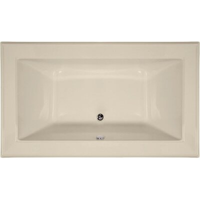 Designer Angel 72 x 42 Soaking Bathtub Finish: Almond