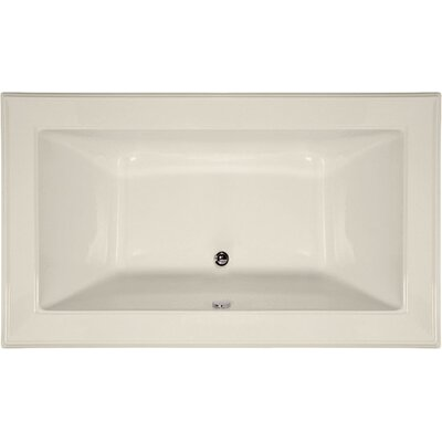 Designer Angel 72 x 42 Soaking Bathtub Finish: Biscuit