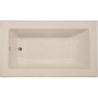 Designer Angel 72 x 42 Whirlpool Bathtub Finish: Almond
