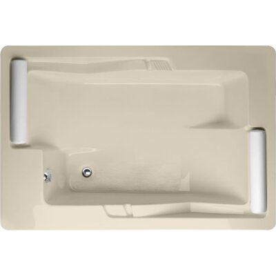 Designer Ashley 72 x 48 Soaking Bathtub Finish: Almond