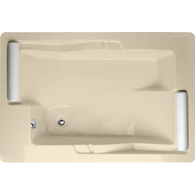 Designer Ashley 72 x 48 Soaking Bathtub Finish: Bone