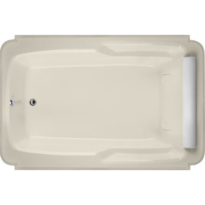 Designer Atlandia 74 x 48 Soaking Bathtub Finish: Biscuit