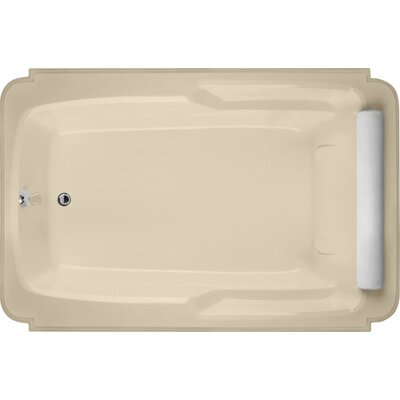 Designer Atlandia 74 x 48 Soaking Bathtub Finish: Bone