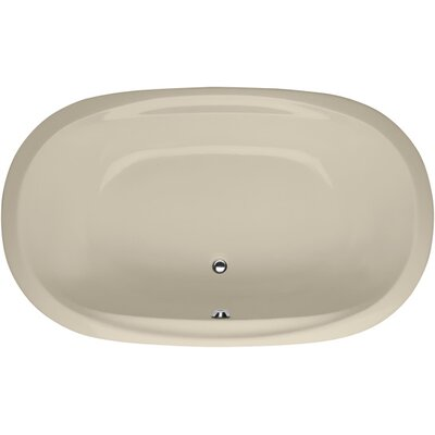Builder Duo Oval 74 x 44 Soaking Bathtub Finish: Almond