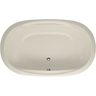 Builder Duo Oval 74 x 44 Soaking Bathtub Finish: Biscuit