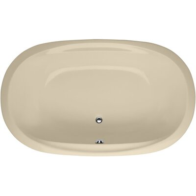 Builder Duo Oval 74 x 44 Whirlpool Bathtub Finish: Bone