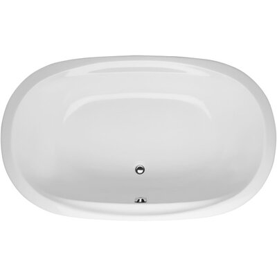 Builder Duo Oval 74 x 44 Whirlpool Bathtub Finish: White