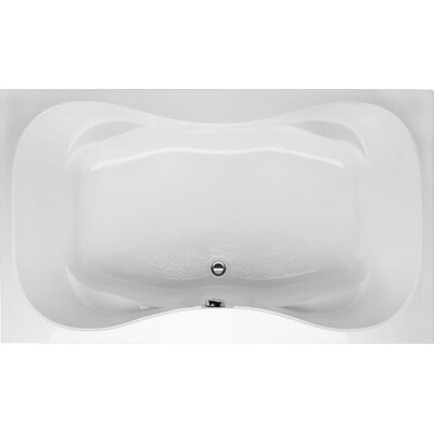 Builder Hourglass 72 x 42 Whirlpool Bathtub Finish: White
