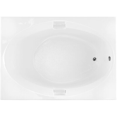 Builder 60 x 42 Soaking Bathtub Finish: White