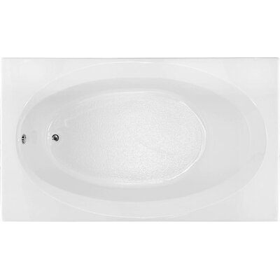 Builder 72 x 42 Soaking Bathtub Finish: White