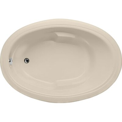 Builder Oval 66 x 42Soaking Bathtub Finish: Almond