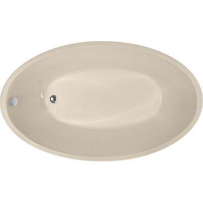 Designer Carli 60 x 36 Soaking Bathtub Finish: Almond