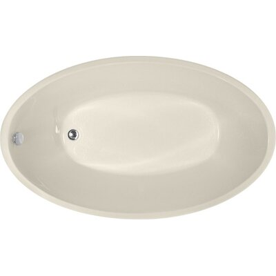 Designer Carli 60 x 36 Soaking Bathtub Finish: Biscuit