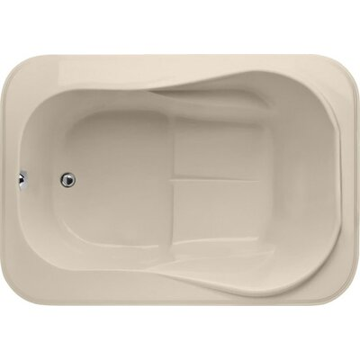 Designer Cassi 60 x 42  Soaking Bathtub Finish: Almond