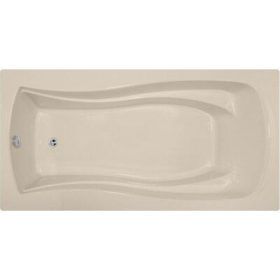 Designer Charlotte 72 x 36 Soaking Bathtub Finish: Almond