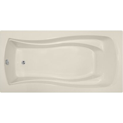 Designer Charlotte 72 x 36 Soaking Bathtub Finish: Biscuit