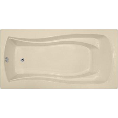 Designer Charlotte 72 x 36 Soaking Bathtub Finish: Bone