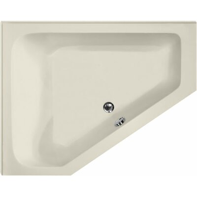 Designer Courtney 60 x 48 Soaking Bathtub Finish: Biscuit